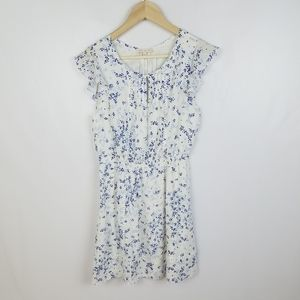 Skies are Blue, size M dress mini white eith blue